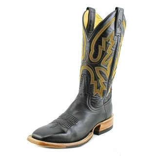 Rod Patrick Florence Men 2A Round Toe Leather Black Western Boot