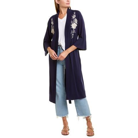 Johnny Was Silk & Cashmere-Blend Kimono