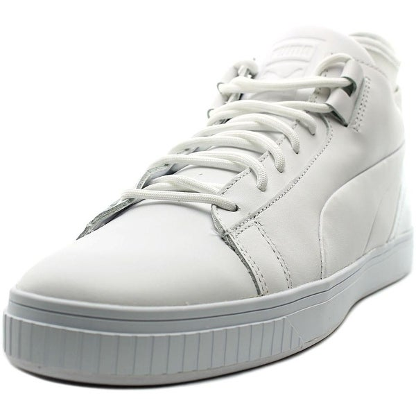 Puma Play Prm Men Round Toe Leather White Sneakers