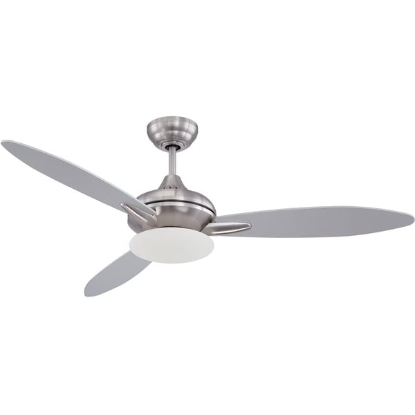 "Craftmade LO52 Loris 52"" 3 Blade Ceiling Fan - Blades and Light Kit Included - STAINLESS STEEL"