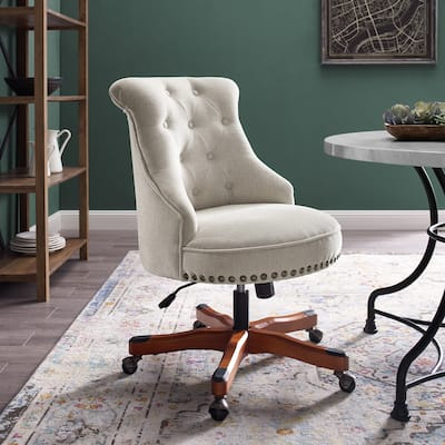 Linon Pamela Natural Swivel Office Chair