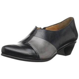 Fidji Womens Leather Two Tone Loafers - 40