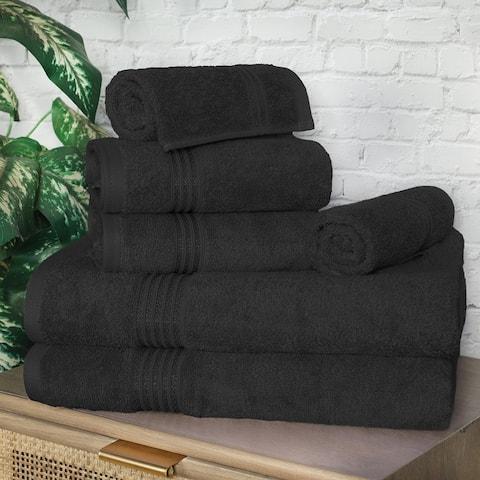 Miranda Haus Egyptian Cotton 8-Piece Ultra Soft Solid Towel Set