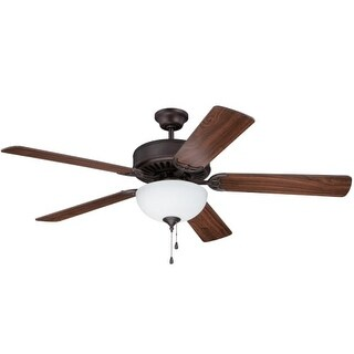 """Craftmade C201 Pro Builder 42"""", 44"""" or 52"""" 5 Blade Ceiling Fan - Light Kit Included - Requires Blade Selection"""