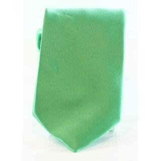 Geoffrey Beene NEW Solid Green Men's One-Size Slim Satin Neck Tie