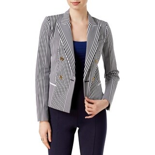 MICHAEL Michael Kors Womens Two-Button Blazer Striped Double Breasted
