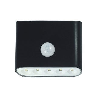 Westek LG3101B-N1 Motion-Activated LED Outdoor Sconce Light, Black, 40 Lumens