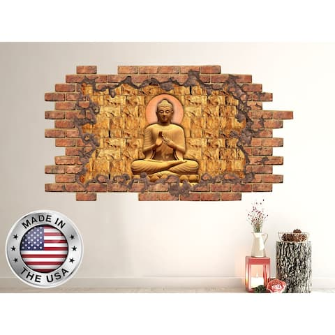 3D Buddha Wall Decal Mural
