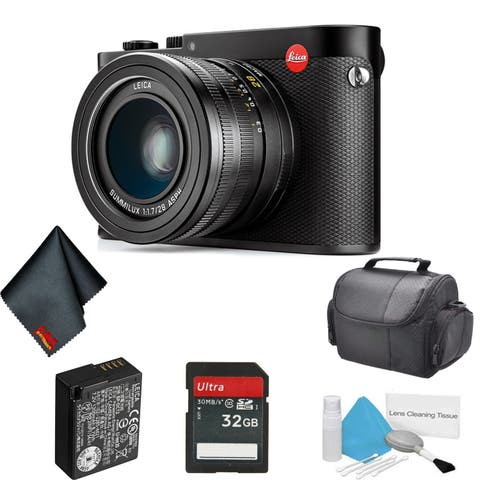 Leica Q 24.2 MP Compact Digital Camera (Anodized, TYP 116) - Bundle