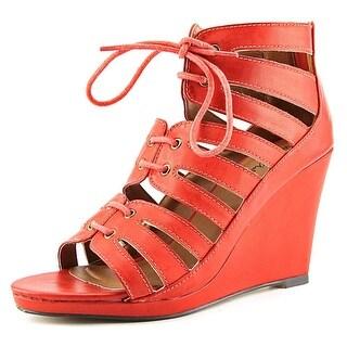 """Michael Antonio Garabi 3.75"""" Open Toe Synthetic Wedge Heel"""