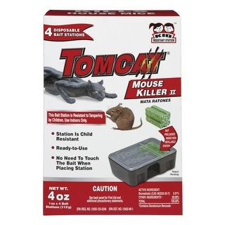 Tomcat 23340 Disposable Mouse Bait Station, 4 Oz