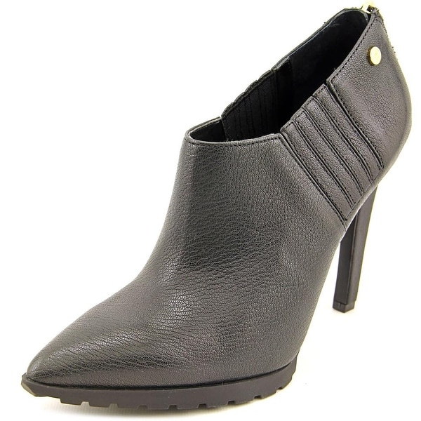 Calvin Klein Berrie Pointed Toe Leather Bootie