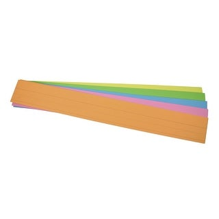 School Smart Sentence Strip, 3 x 24 Inches, Assorted Neon Colors, 90 lb, Pack of 100
