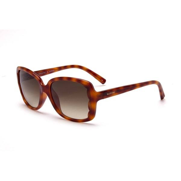 Valentino Women's Oversized Square Sunglasses Blonde Havana - Small