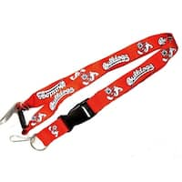 Fresno State Bulldogs Clip Lanyard Keychain Id Ticket Holder NCAA - Red