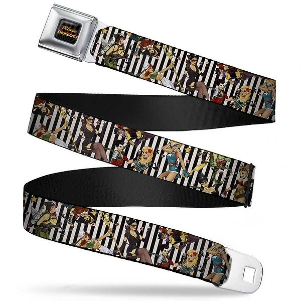 Dc Comics Bombshells Rays Full Color Black Gray Orange Red Fade 11 Dc Seatbelt Belt