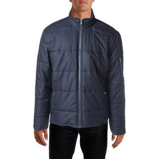 Calvin Klein Jeans Mens Quilted Herringbone Basic Coat - XL