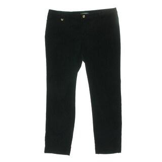 Lauren Ralph Lauren Womens Plus Casual Pants Velvet Skinny - 18W