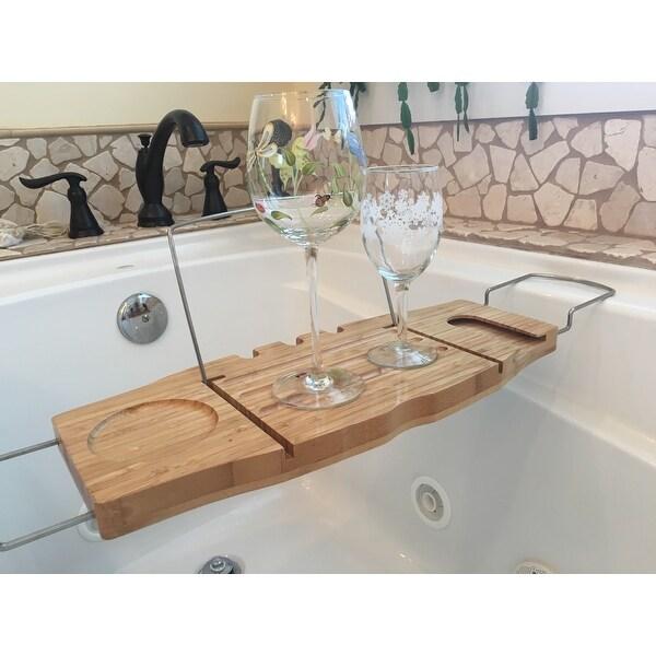 Shop Trademark Innovations Bamboo Bathtub Tray and Caddy - Free ...