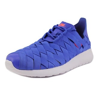 Nike Rosherun Woven Women Round Toe Canvas Blue Sneakers