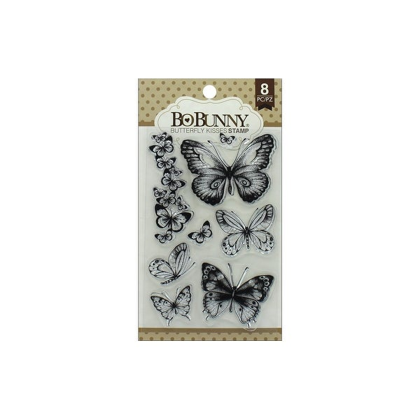 Bo Bunny Essentials Stamp Butterfly Kisses