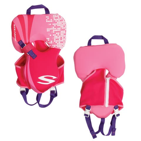 Stearns puddle jumper inf hydroprene life jacket up to 30lbs pink 2000019828