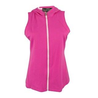Ralph Lauren Women's Hooded Vest - Pink - S