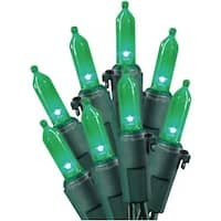 Celebrations 40835-71 LED Traditional Mini Light Set, 50 Green Lights