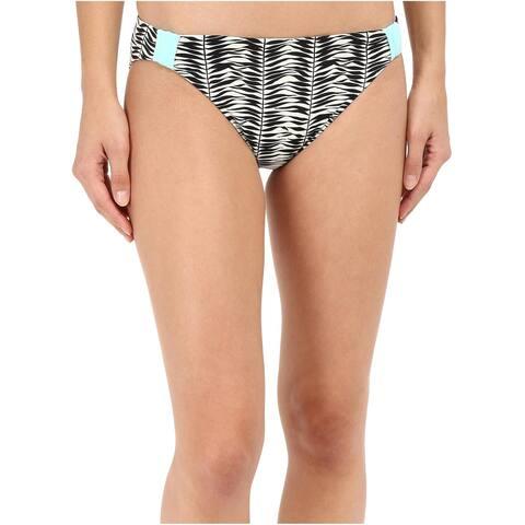 Roxy Ladies Swimsuit Bikini Bottom Small S Multicolor Reversible Animal Kona