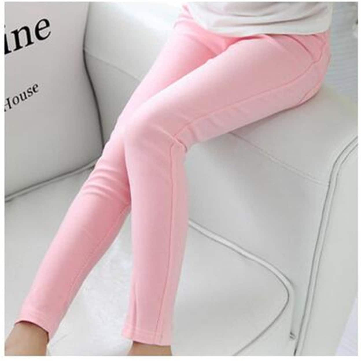 Fashion Kids Baby Girls Clothes Candy Color Leggings Pencil Pants Stretch Long Tights for Vacations