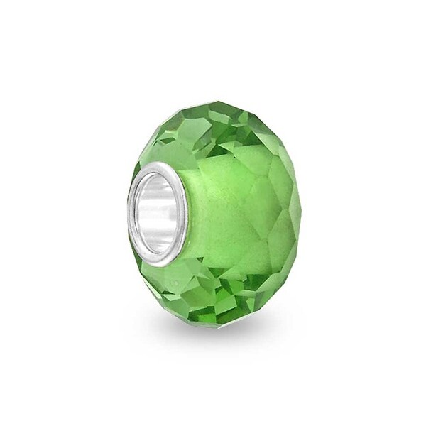 Murano Solid Glass .925 Sterling Silver Bead Charm Spacer More Colors - 8. Opens flyout.