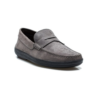 Tod's Men's Leather Mocassino Marlin Hyannisport Loafer Shoes Grey
