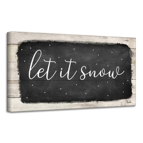 Ready2HangArt 'Let it Snow' Holiday Canvas Wall Art by Olivia Rose