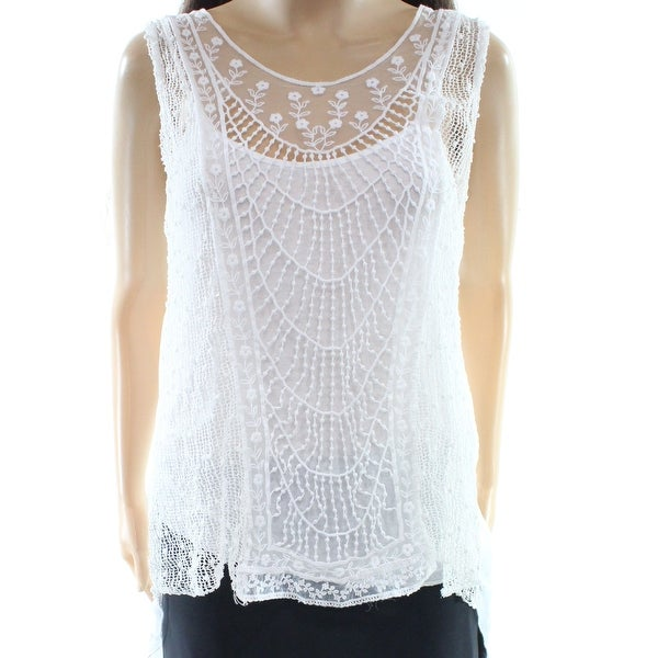 84317e5ddf25b2 Shop M Made in Italy NEW White Women s Size Small S Crochet Tank Cami Top -  Free Shipping On Orders Over  45 - Overstock - 19676738