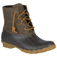 Sperry Top-Sider Women's Saltwater Duck Boot Brown/Olive Leather/Rubber