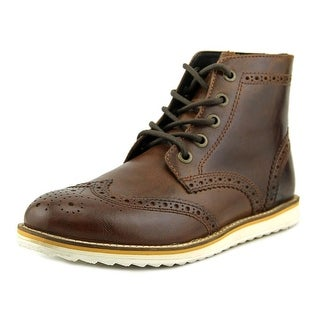 Crevo Boardwalk Men Wingtip Toe Leather Brown Boot