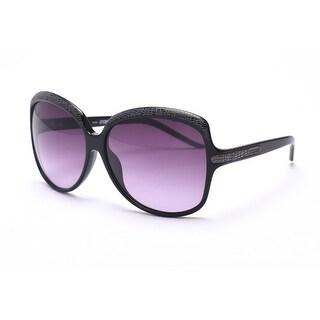 Just Cavalli Women's Oversized Circular Sunglasses Black/Grey - Small