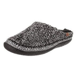 Toms Womens Ivy Slipper, Adult, Black/White Sweater Knit