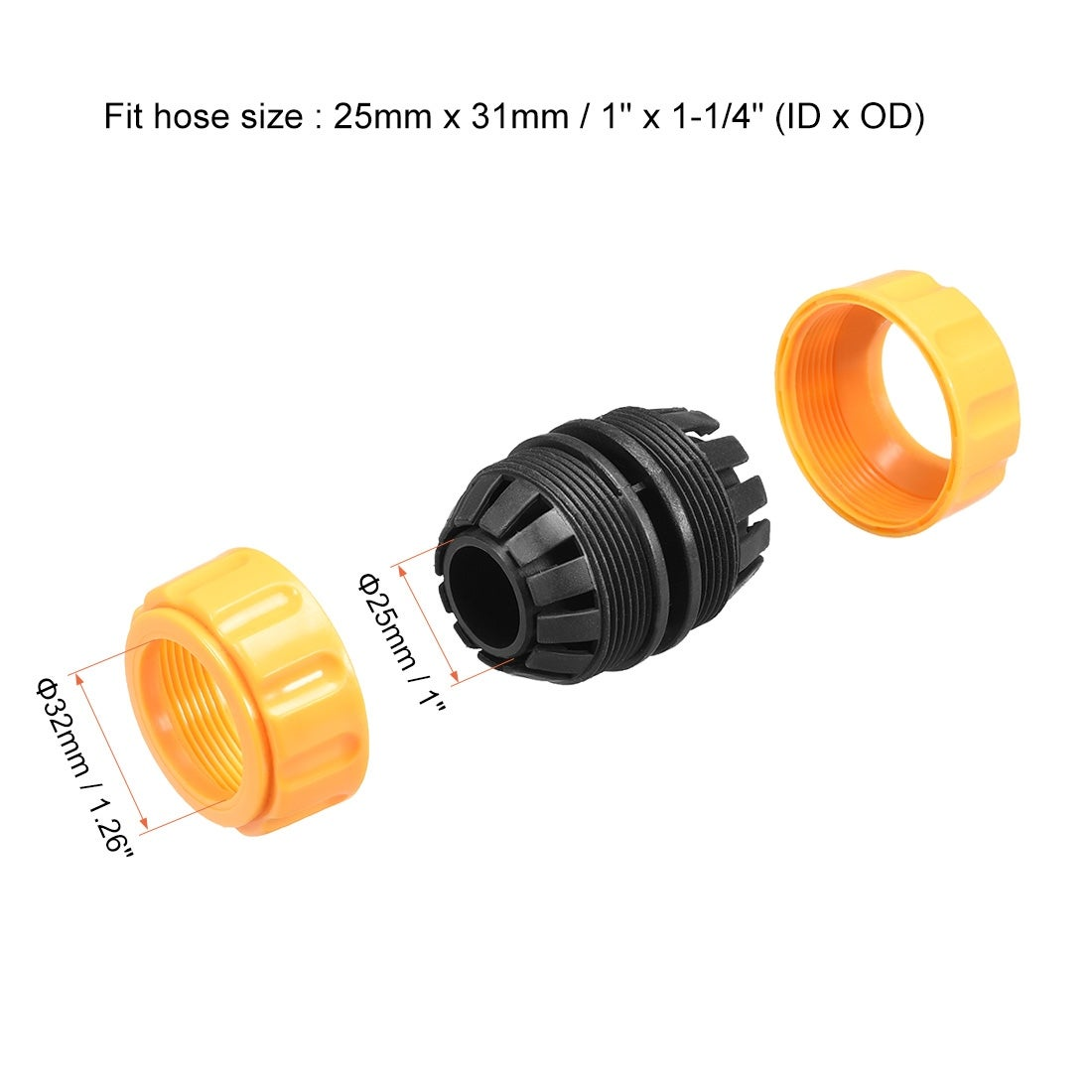 2 x 20mm Car Hose Connectors T Piece Fittings Joiners Multi Use