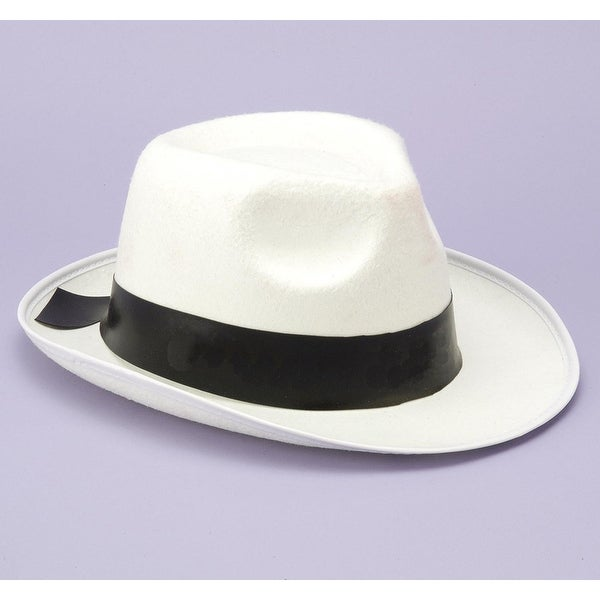 Gangster White Fedora Adult Costume Hat