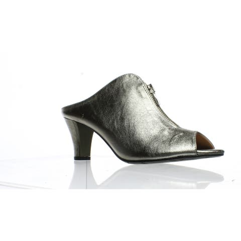 067cfb78e57 J. Renee Womens Franca Pewter Peep Toe Heels Size 7.5 (AA