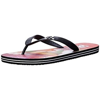 DC Mens Spray Graffik Printed Slide Flip-Flops