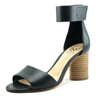 Vince Camuto Jacon Women  Open Toe Leather Black Sandals