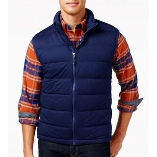 32 Degrees NEW Dark Navy Blue Mens Large L Vest Puffer Full-Zip Jacket