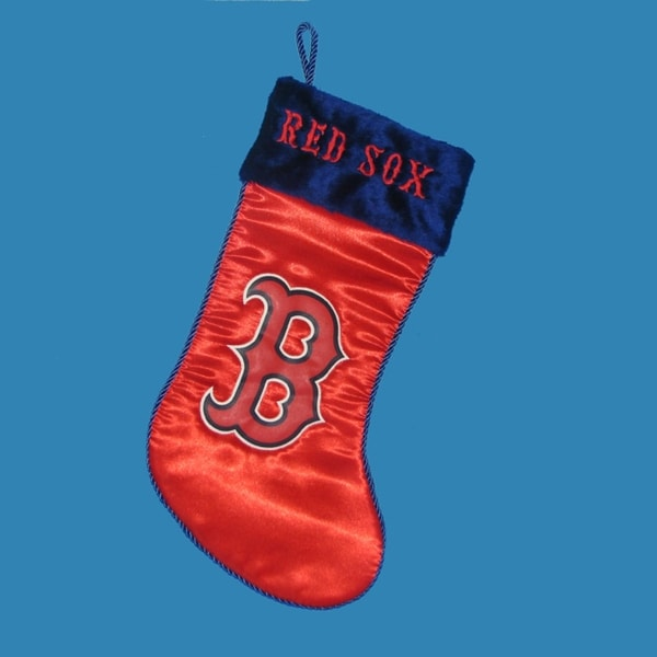 "17"" Red Major League Baseball Boston Red Sox Applique Christmas Stocking"