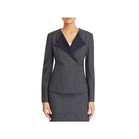 BOSS Hugo Boss Womens Collarless Blazer Crepe Office Wear