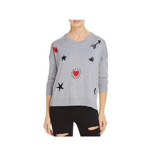 French Connection Womens Crewneck Sweater Knit Embelished