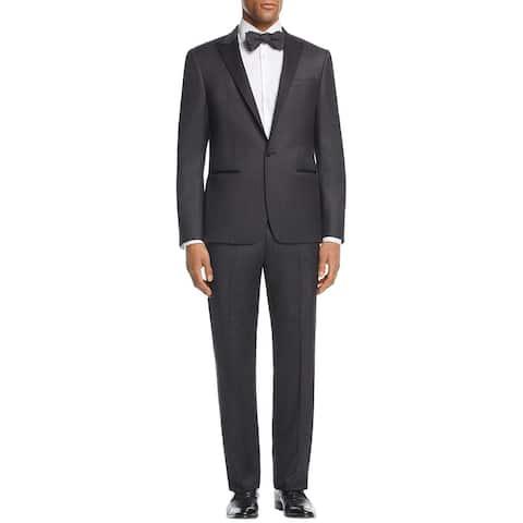 John Varvatos Star USA Mens Soho Fit Peak Lapel Tuxedo 42S Black Pants 35W