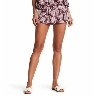 Abound Womens Pleated Tropical Print Casual Shorts $19