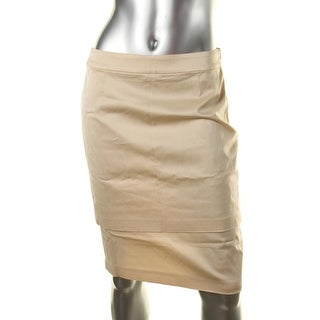 Escada Womens Ruslana Layered Solid Pencil Skirt - 36